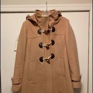 Maternity toggle coat